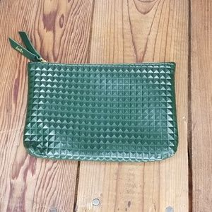Ipsy Makeup Bag July Army Green Studded